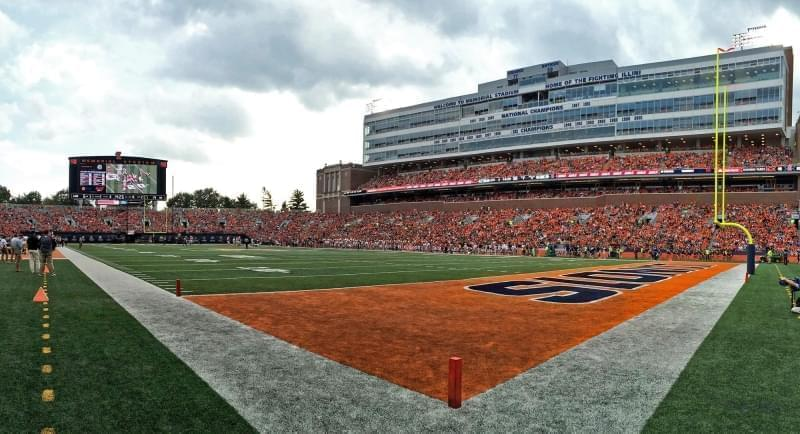 Memorial Stadium at University of Illinois at Urbana-Champaign.