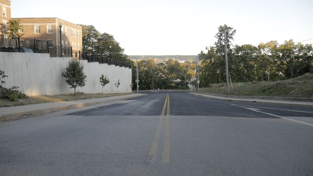 "A look down ""the hill"" on the south side of Peoria."