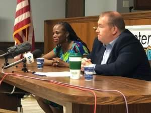 State Senator Scott Bennett and State Representative Carol Ammons spoke at a town hall in Champaign on Wednesday evening.
