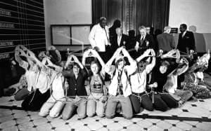 A group of feminists chained themselves together outside the Illinois Senate chambers in Springfield, Ill., to show support for the ratification of the ERA in June 1982.