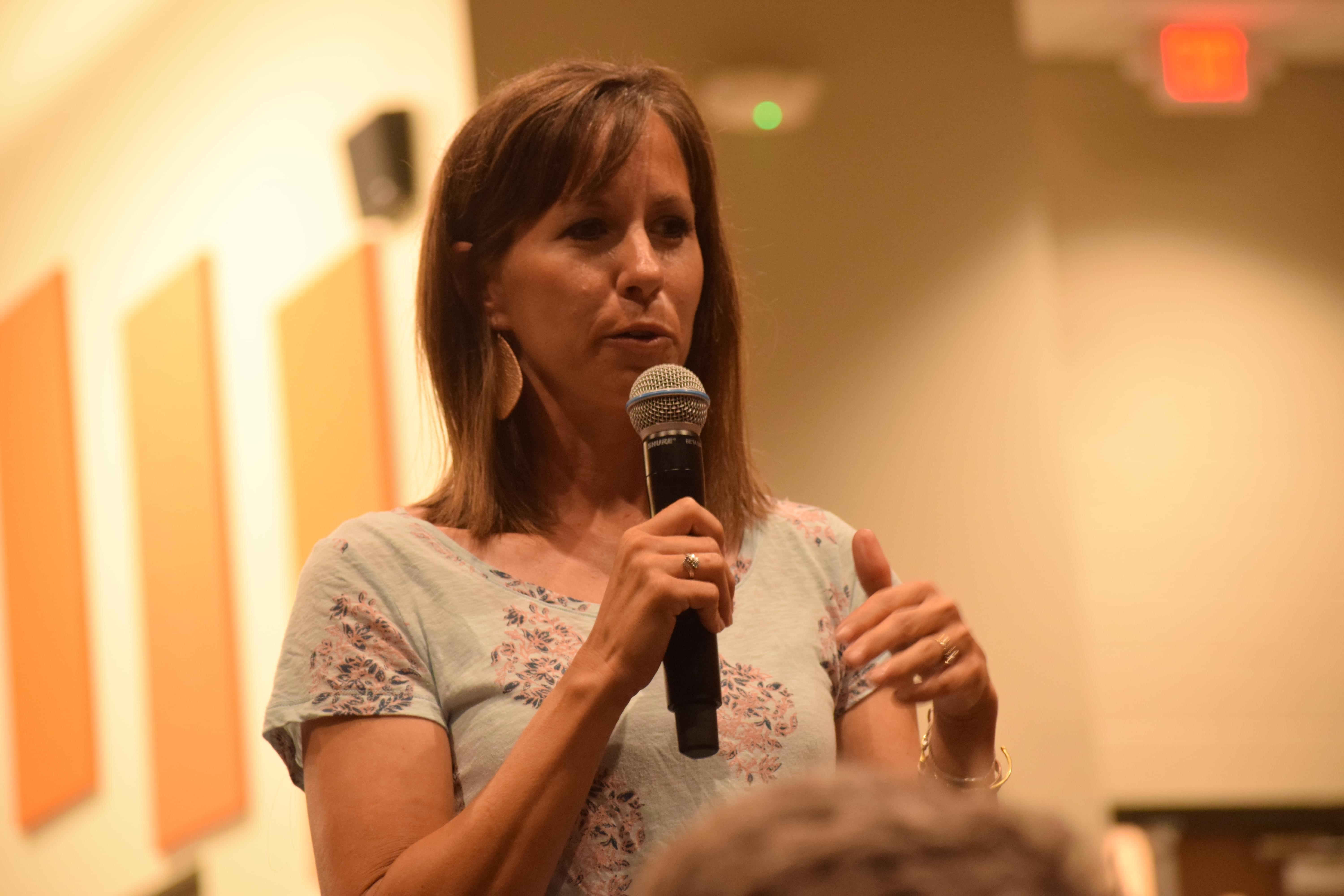 Jodi Eisenmann is one of 17 plaintiffs in a lawsuit filed against People's Gas. She spoke out about her present situation during a Mahomet Aquifer Task Force meeting on Monday in Mahomet.
