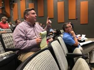 State Senator Chapin Rose spoke at a Mahomet Aquifer Task Force meeting on Monday June 18. The task force member discussed with the state advisory panel how to protect the aquifer from gas leaks in the future.