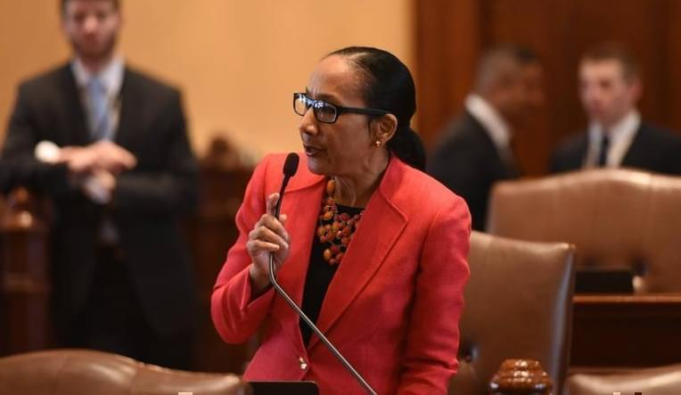 State Senator Jacqueline Collins.