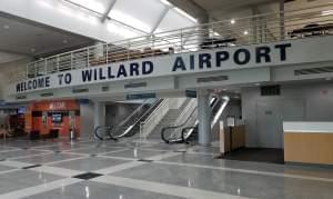 Lobby of Willard airport terminal building.