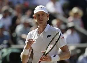 South Africa's Kevin Anderson at the Wimbledon Tennis Championships