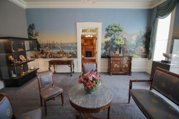A room in the newly renovated Governor's Mansion.