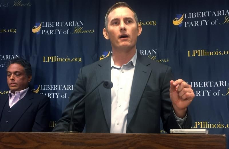 "Illinois Libertarian gubernatorial candidate Grayson ""Kash"" Jackson"