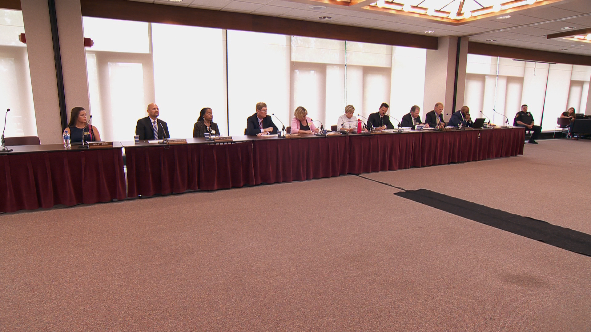 SIU Board of Trustees meet during a special session Monday on the Edwardsville campus.