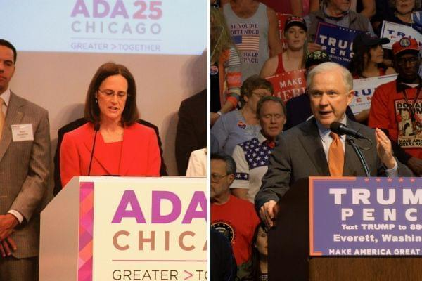 Illinois Attorney General Lisa Madigan, and US Attorney General Jeff Sessions.