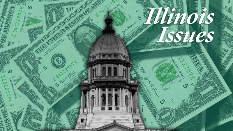 Logo for Illinois Issues Money Machines series.
