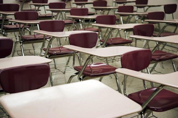 A school classroom.