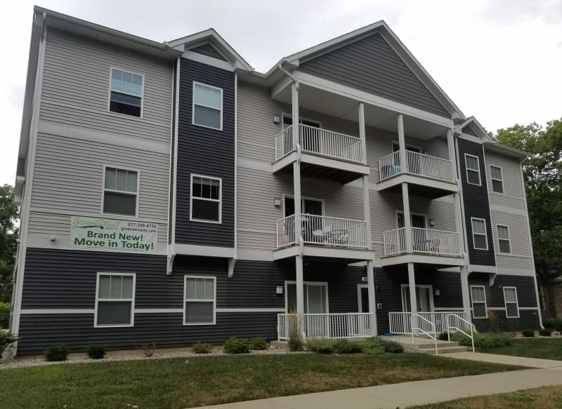 New apartment building on South Elm Street in Champaign's Old Town neighborhood.