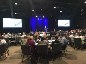 Speakers teaching prevention tools at the Domestic Violence and Human Trafficking summit in Rockford.
