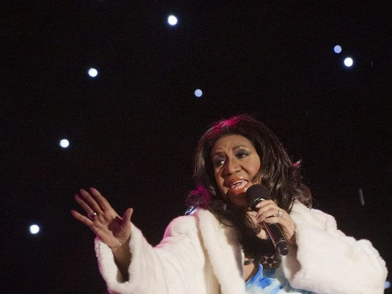 Aretha Franklin performs at the national Christmas tree lighting ceremony in Washington, D.C., in 2013. Franklin died on Thursday in Detroit.