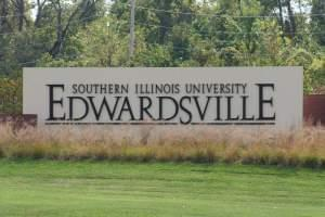 Entrance to the SIU-Edwardsville campus.