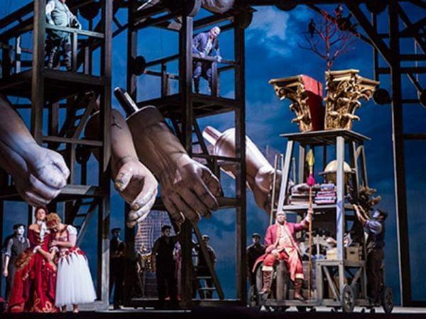 Lyric Opera of Chicago performs Das Rheingold on stage