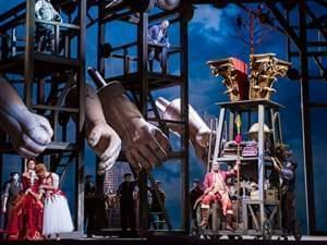 Lyric Opera of Chicago performs Das Rheingold on stage