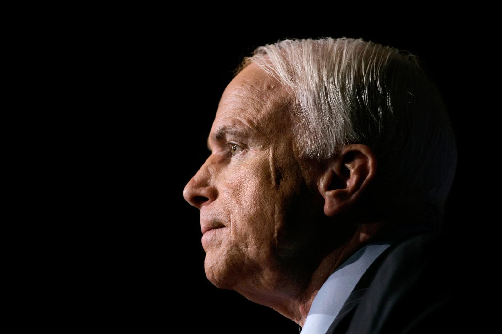 A half profile of Republican Sen. John McCain.