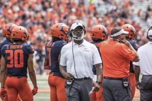 Illinois head coach Lovie Smith. University of Illinois NCAA Football vs Kent State, at Memorial Stadium, Champaign, IL, Saturday, Sept. 1, 2018.