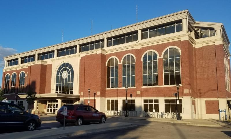 The Illinois Terminal building in downtown Chamaign.