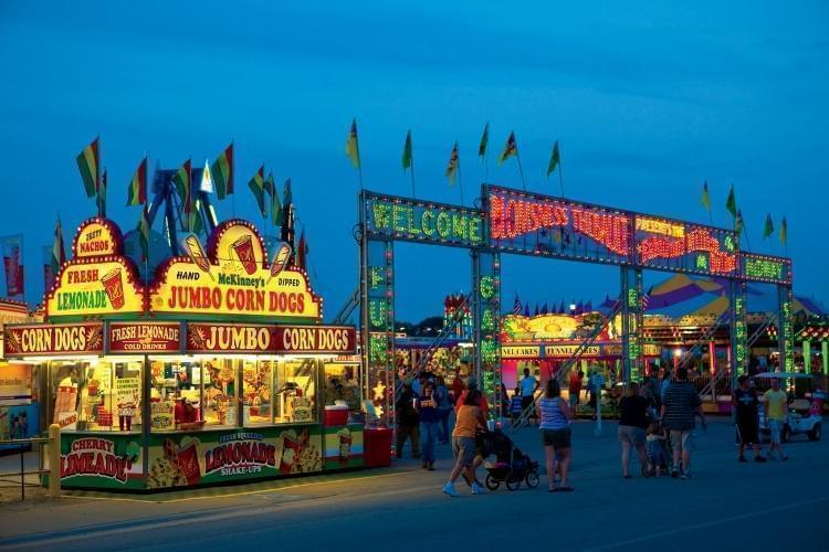 Food stands at the Illinois State Fair
