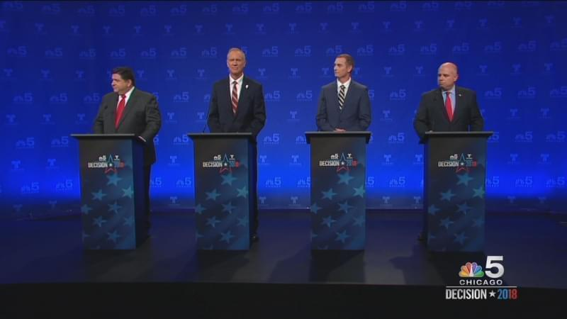 The four candidates for Illinois governor.