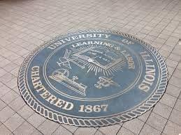 University of Illinois Seal at the McFarland Memorial Bell.