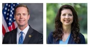 Republican Rodney Davis (left) and Democrat Betsy Dirksen Londrigan (right)