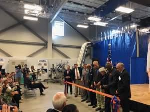 University of Illinois administrators, local legislators and  the governor during a ribbon cutting at the IBRL facility on the U of I Urbana campus.