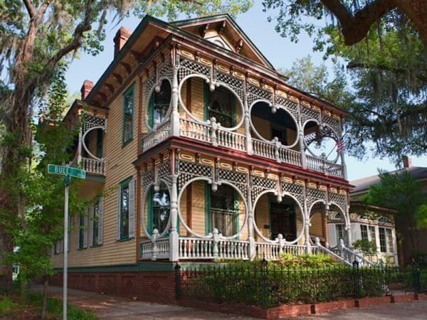 "A ""Gingerbread House"" in old Savannah."