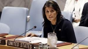 Nikki Haley at the United Nations in New York.