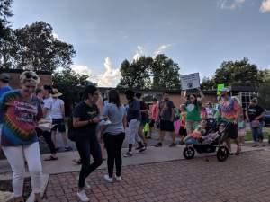 Roughly 200 teachers, as well as children and union supporters rallied outside the Champaign Unit 4 administration building on Monday, Oct. 8, 2018.