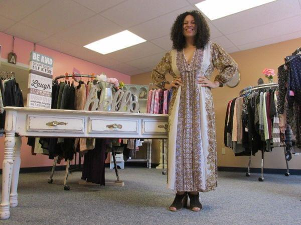 Aaliyah Kissick inside her store, AK Boutique.