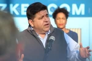 J.B. Pritzker speaks with campaign supporters in Springfield in this 2017 file photo.
