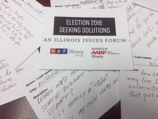 Question cards form Illinois Issues Forums.