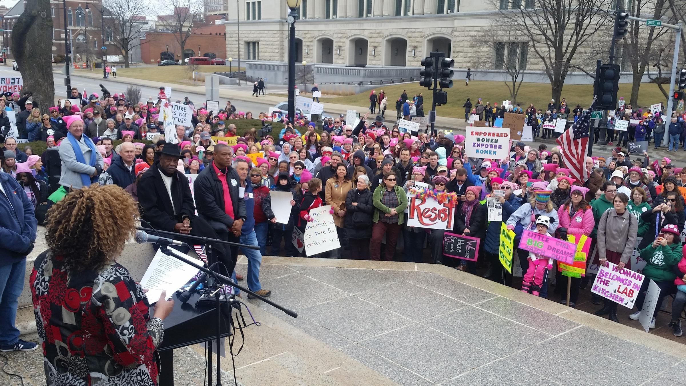 In January about 1,000 people convened in Springfield for the second annual Women's March. This year's focus was getting out the vote.
