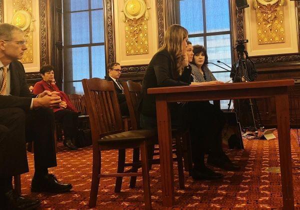 Illinois residents urging state senators to ban the cancer-causing ethylene oxide.