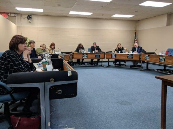 The Urbana District 116 Board of Education and administrators during a public meeting of the board held on Nov. 20, 2018.