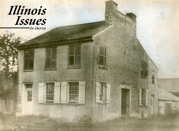 The first Illinois capitol at Kaskaskia.