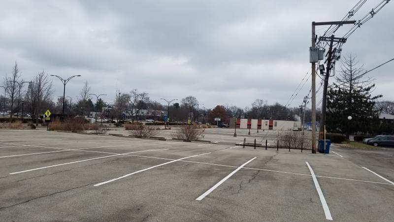 City-owned parking lot in downtown Urbana.