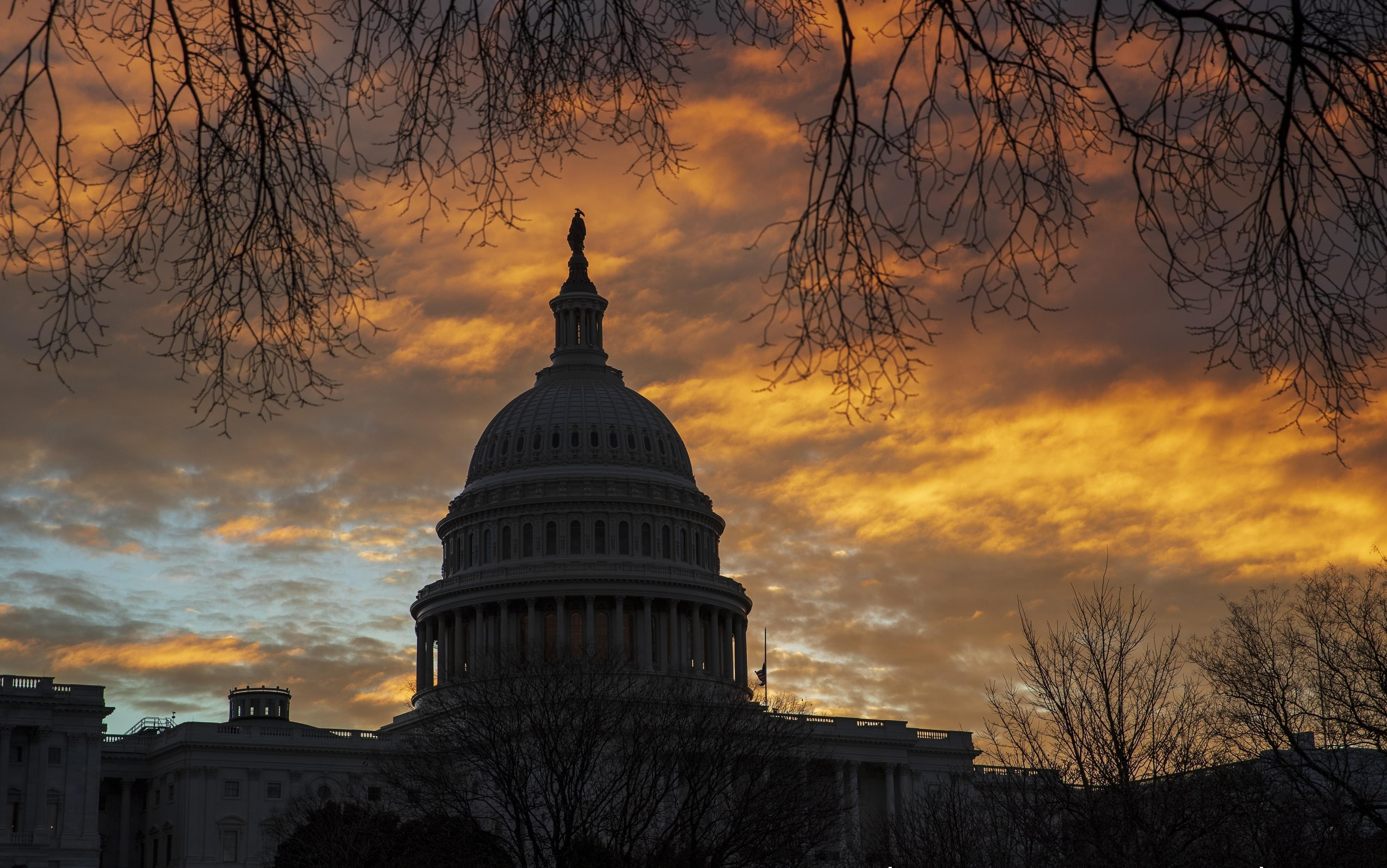 The U.S. Capitol on Saturday morning, the first day of a partial government shutdown.