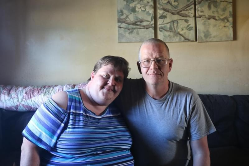 Yvonne Martin and her husband, Steve, at their home in Newburgh, Indiana, a town a few miles east of Evansville.