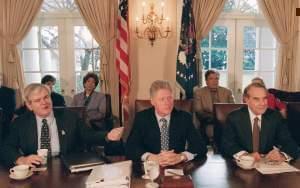 Bill Clinton and Bob Dole