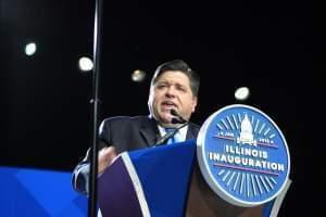 J.B. Pritzker is sworn in as Illinois' 43rd governor on January 14, 2019.