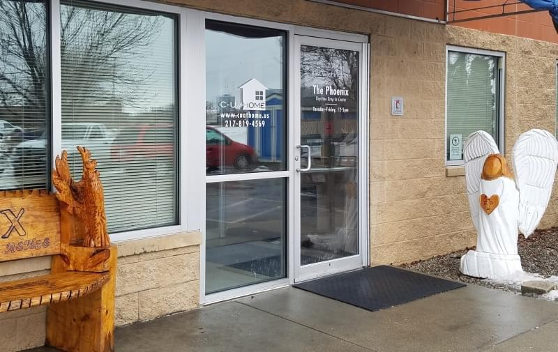 Entrance to the Phoenix Drop-In Center and C-U At Home offices in Champaign.