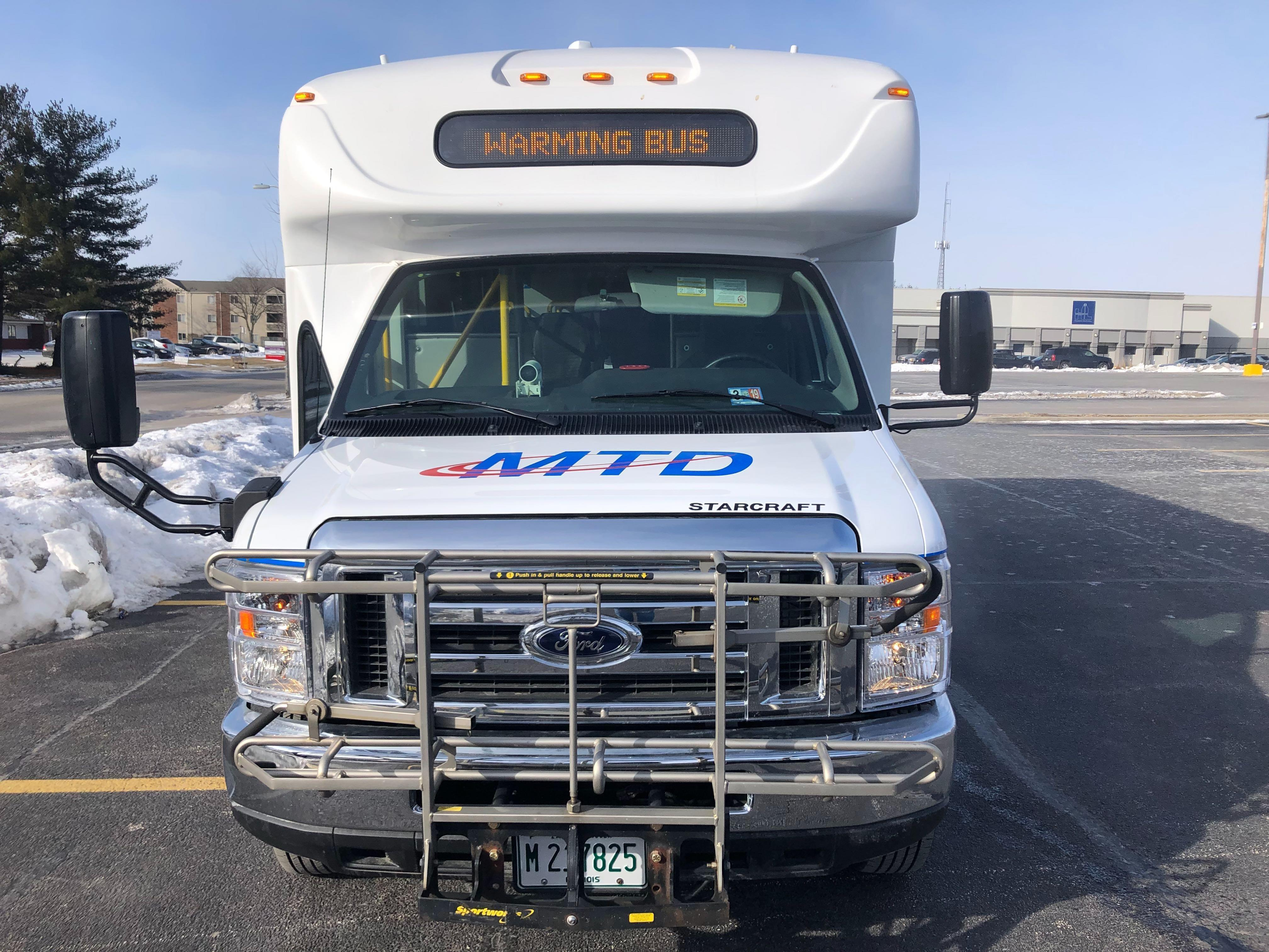 Mtd Warming Bus Offers Shelter To Commuters During Extreme