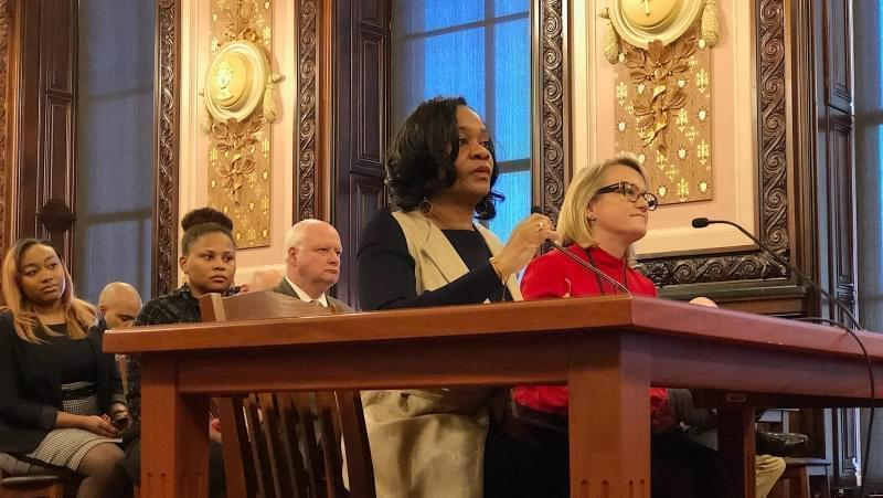 State Sen. Kimberly Lightford, a Maywood Democrat, is the chief sponsor of the minimum wage increase proposal.