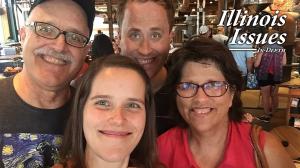 Tim Landis' family: daughter Kelsey, son Matt and wife Debra.