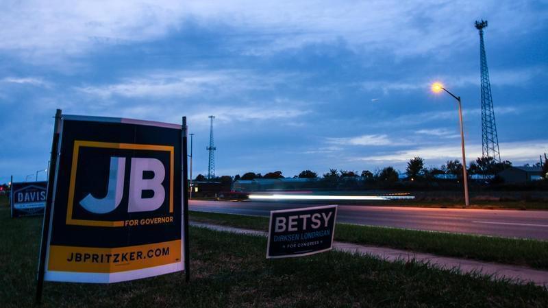 J.B. Pritzker campaign sign