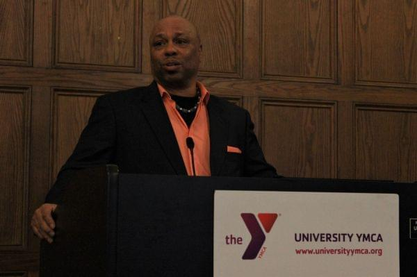Tracy Parsons speaking at the University YMCA